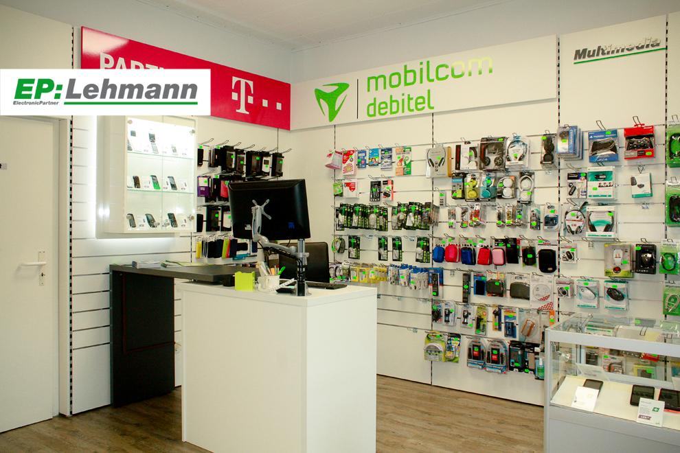 Mobilfunk, Zubehör und Beratungsbereich bei EP: Lehmann in Nauen